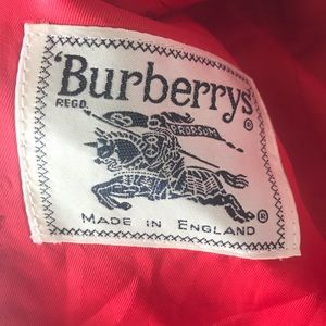 Vintage Red Burberrys' blazer
